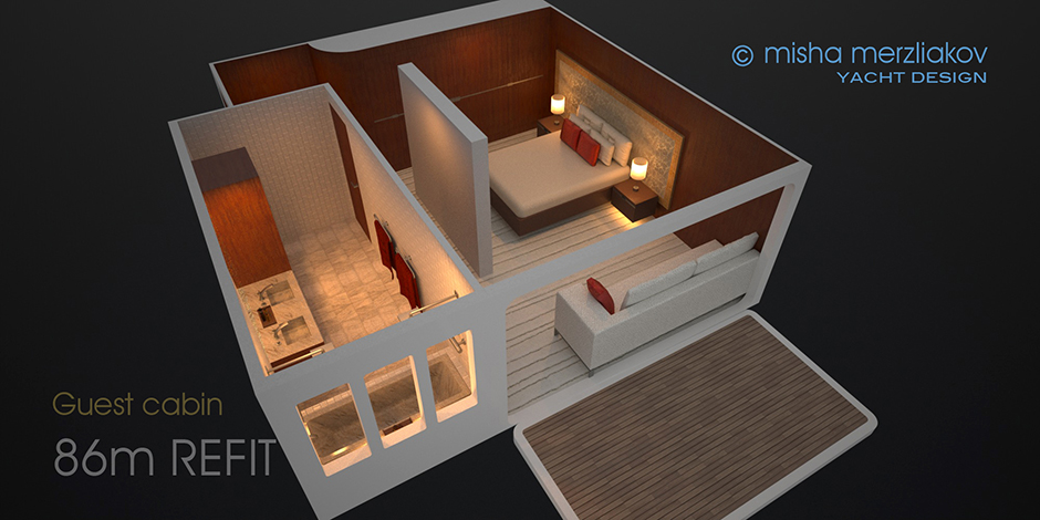 sleeping area on boat design